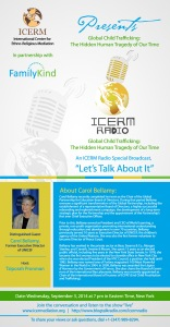 ICERM Radio Flyer-Global Child Trafficking - The Hidden Human Tragedy of Our Time- Carol Bellamy