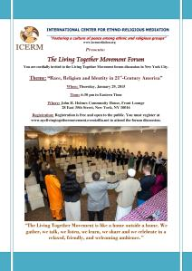 NYC Living Together Movement - Forum Discussion - Race, Religion and Identity in 21st-Century America-page-001